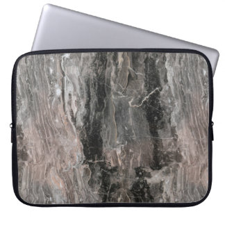 Grå prickig marmorsten laptop sleeve