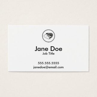 Grå räka - samling för fiskräkakrabba visitkort