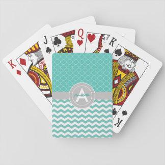Grå sparre Quatrefoil för kricka Spel Kort
