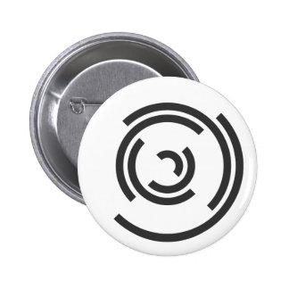 Grå spiral knappar med nål