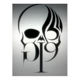 Grå & svart logotyp GI9 Vykort
