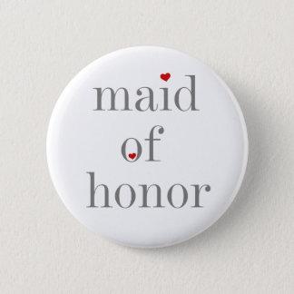 Grå textmaid of honor standard knapp rund 5.7 cm