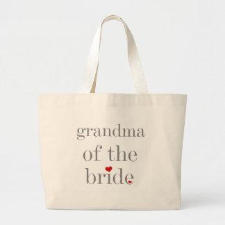 Grå textmormor av bruden jumbo tygkasse