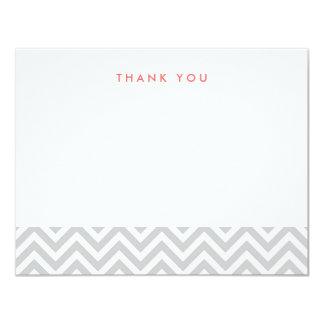 Gråa enkla sparretackkortkort 10,8 x 14 cm inbjudningskort