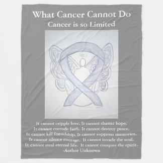 Gråa filtar för ängel för cancer för