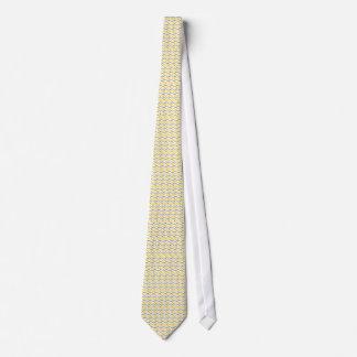Gråa och gula sparrerandar slips