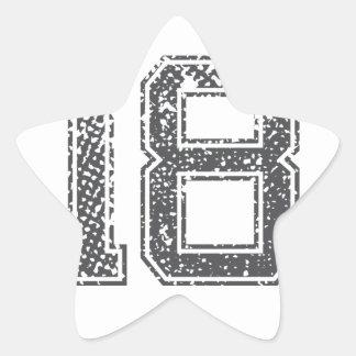 Gråa sportar Jersey #18 Stjärnformat Klistermärke