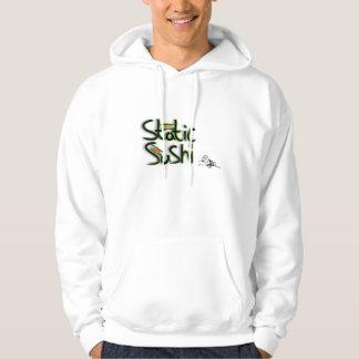 grabb för sädesslag för staticsushilogotypmeme sweatshirt med luva