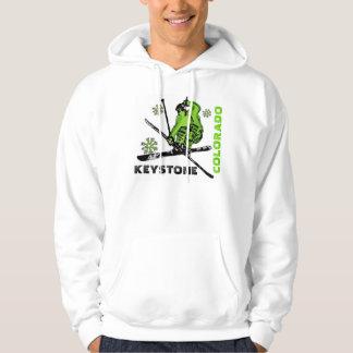 Grabbar för det KeystoneColorado skidar gröna Tröja Med Luva