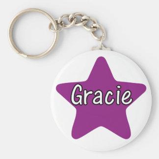 Gracie stjärna rund nyckelring