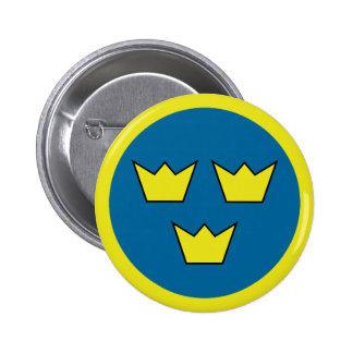 Gradbeteckning för tre kronasvensk standard knapp rund 5.7 cm