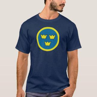 Gradbeteckning för tre kronasvensk tee shirts