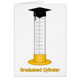 Graderad cylinder - hälsningskort