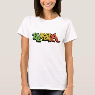 Graf Rasta Skjorta med Reggaefärger Tee Shirt