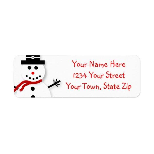 Grafisk adressetiketter för gullig snögubbe