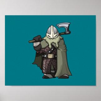 Grafisk affisch för Viking krigare Poster