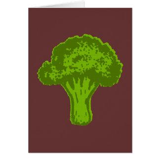 Grafisk broccoli hälsningskort