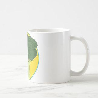 Grafisk broccoli kaffemugg