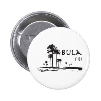 Grafisk Bula fijiansk palmträd Standard Knapp Rund 5.7 Cm