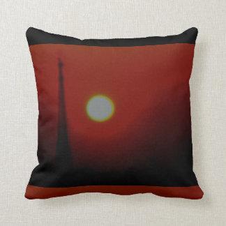 Grafisk Crimson soluppgång Kudde