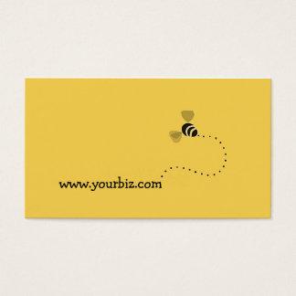 Grafisk design för enkelt gulligt affärs-bi visitkort