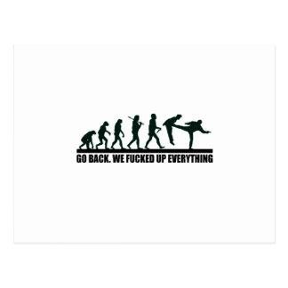 Grafisk design för rolig människaevolution vykort
