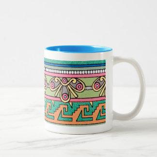 Grafisk designpastell för geometriskt stam- Två-Tonad mugg