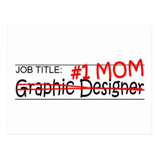 Grafisk formgivare för jobbmamma vykort