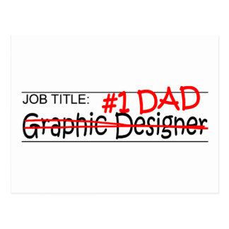 Grafisk formgivare för jobbpappa vykort