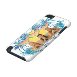 Grafisk gruppblåttpalmträd iPod touch 5G fodral