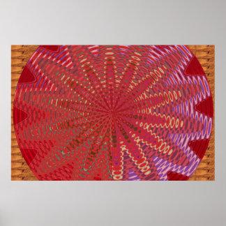 Grafisk guld- gnistra:  Vinkar cirklar färgrikt Poster