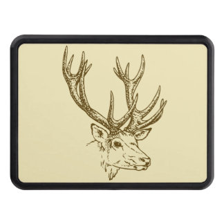 Grafisk Head illustration för hjort Dragkroksskydd