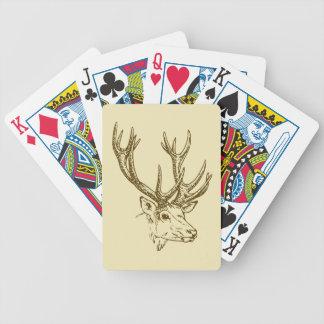 Grafisk Head illustration för hjort Spelkort
