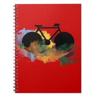grafisk illustration för stads- cykelkonst antecknings bok