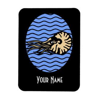 Grafisk magnet för Nautilus med ditt namn