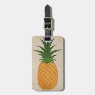 Grafisk moderiktig Retro ananas för hawaiansk Bagagebricka