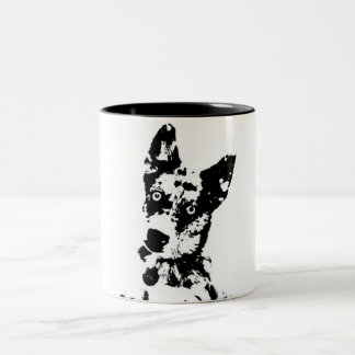 Grafisk mugg för hund