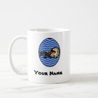 Grafisk mugg för Nautilus med ditt namn