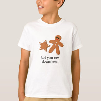 Grafisk pepparkaka: Anpassadeslogan T-shirts