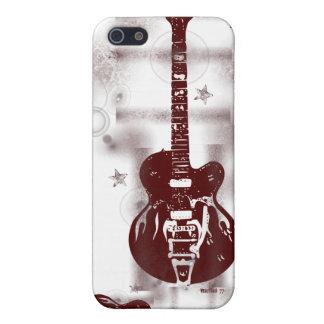 Grafisk röd iphone case för gitarr iPhone 5 hud