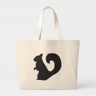 Grafisk silhouette för ekorrenötkreaturskogsmark jumbo tygkasse