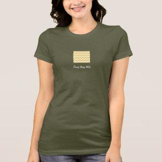 Grafisk T-tröja för arméfru med den gula sparren Tröjor