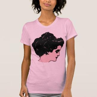 Grafisk utslagsplats för Gibson flicka i rosa och T-shirt