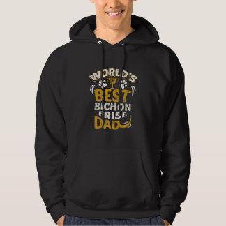 Grafisk världs bäst Bichon Frise pappa Sweatshirt Med Luva
