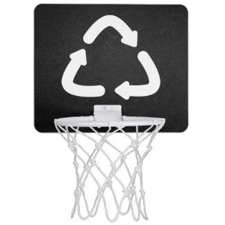 Grafiska återvinnapilar Mini-Basketkorg