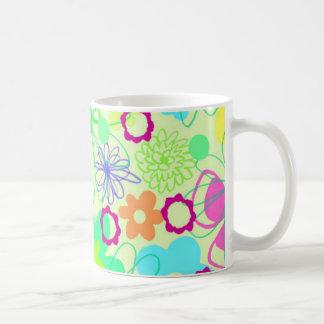 Grafiska blommor kaffemugg