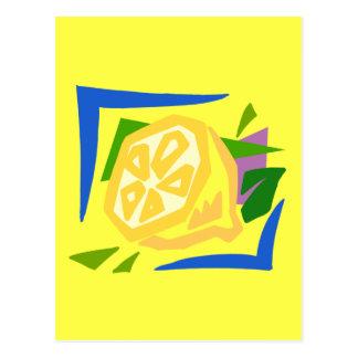 Grafiska citroner för Chunky citron Vykort
