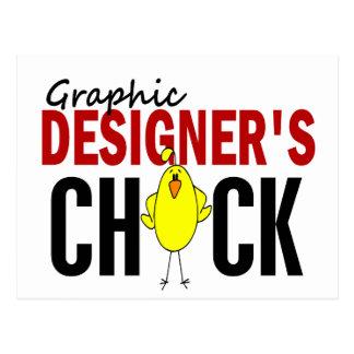 Grafiska formgivare chick vykort