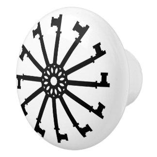Grafiska gammalmodiga nycklar cirklar knopp