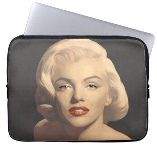 Grafiska gråa Marilyn Laptop Sleeve